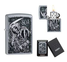 More details for new zippo lighter sons of anarchy the grim reaper is featured on this soa lighte