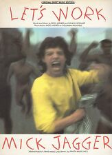 Mick Jagger Rolling Stones Let's Work  US Sheet Music
