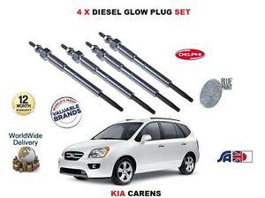 FOR KIA CARENS 1.6TD D4FB 2010-12--> NEW 4 X DIESEL GLOW PLUGS SET