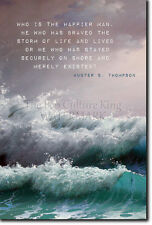 HUNTER S. THOMPSON QUOTE POSTER 2 - PHOTO PRINT ART GIFT - BRAVED THE STORM