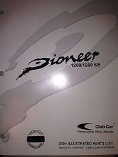 Club Car Pioneer 1200 Illustrated Parts List Manual