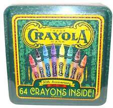 Crayola Crayons 1993 LE Collectible 90th Anniversary Tin 64 Crayons