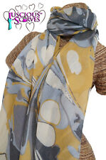 LADIES NEW MARBLE PATTERN DESIGN SCARF SUPERB SOFT QUALITY IN 4 COLOURS SARONG