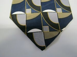 Requirements Tie Necktie 58 x 4 blue gray green black 13546