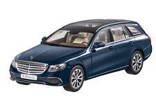 """Mercedes Benz S 213 E Classe T Modèle """"Exclusif"""" Bleu 1:18 neuf emballage scellé"""