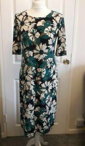 Kim & Co Brazil Jersey Elbow Sleeve Dress Navy Multi Size Small BNWT