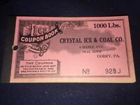 Vintage 1940s Smiths Ice Cream Grocery Sonclair Store Coupon Card Red Lion Pa