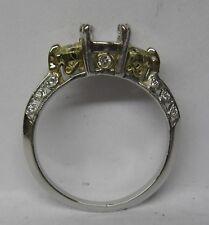 TACORI PLATINUM 18K GOLD .40 CT. YELLOW DIAMOND SETTING RING SEMI MOUNTING