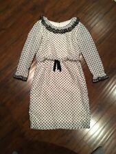Blanes' Vintage Black & White Polka Dot Dress - Size 14
