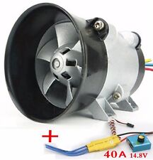 Car Electric Supercharger Turbos intake Fan Boost 12V 16.5A with ESC40A Airplane