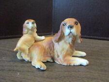 Vintage Ceramic Dog Figurine - Cocker Spaniel - Mamma & Pup - C5638 - Japan