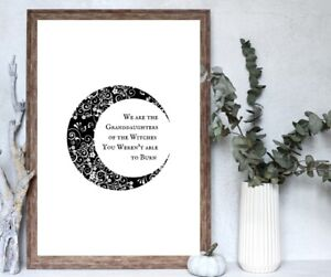 Wall Print Art Poster Typography Home Decor Wicca Pagan Witchcraft