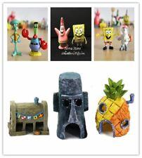 NICE Kid Gift Fish Tank Aquarium Decoration Landscaping SpongeBob Ornament Pinea