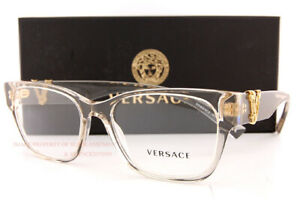 Brand New VERSACE Eyeglass Frames 3283 5288 Transparent Beige For Women