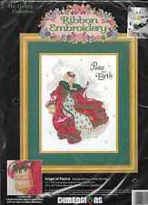 Dimensions ANGEL OF PEACE Ribbon Embroidery Kit,MPN 1441Sealed,Laine Gordon,1994