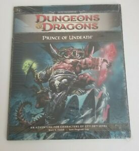 Dungeons & Dragons RPG Prince of Undeath  Fourth 4th Edition Brand NEW SEALED