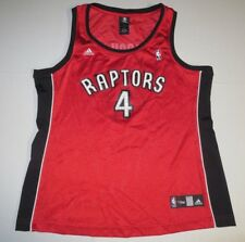 NBA 4 Her Basketball Toronto Raptors Chris Bosh #4 Jersey Womens Large Adidas