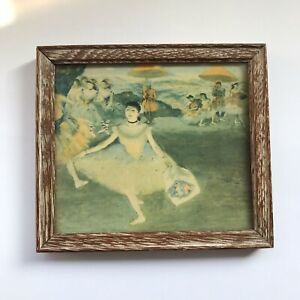 Vintage Framed Reproduction Dancing Girl With Bouquet Bowing with BBO exam resul