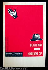 STEVE WALTERS-Artist Signed RED RED MEAT Poster-Screwball Press-Alternative Rock