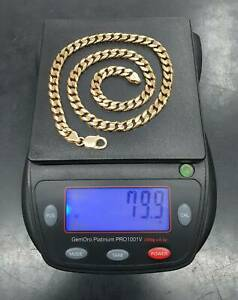 Men's Michael Hill Necklace Solid 10ct Gold Chain 56cm 79.9 Grams