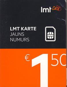 LATVIA and EUROPE - LMT PREPAID CELL GSM PHONE SIM Card. Cheapest TALK TEXT DATA