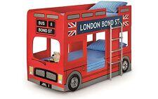 Julian Bowen Red England London Bus Bunk Bed Frame Single 90cm 3FT
