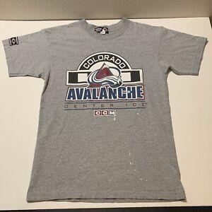 Vintage Colorado Avalanche Hockey T Shirt Center Ice CCM Canada Men's Large