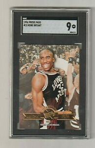 1996-97 PRESS PASS Kobe Bryant RC *SGC 9* MINT LA Lakers HOF #13