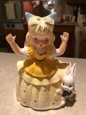 RARE Vintage Napco Alice In Wonderland Planter Figurine - 1950s - FUNDRAISER