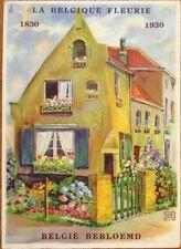 Flowers/Belgium 1930 Color Litho Advertising Postcard - La Belgique Fleurie