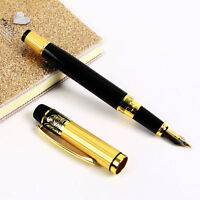 Hot HERO 901 Medium Nib Pens Fountain Pen Luxury Black & Gold Stainless Classic