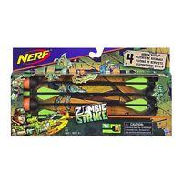Brand New NERF Zombie Strike Blaster ARROW REFILL 4 Pack