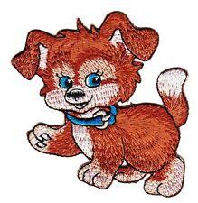 bf23 Welpen Hund Cartoon Aufnäher Bügelbild Applikation Kinder Tiere Baby DIY
