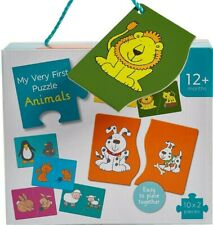 M&S BABY My First 10x 2 Piece JIGSAW PUZZLE SET Chunky Pieces ANIMALS | 1 Year