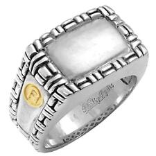 Philip Andre 18K Gold & Sterling Silver Men's Ring, size 10