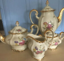 Rosenthal Pompadour Tea Set Gold Trim Selb-Germany