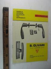 CATALOGO COMMERCIALE B. OLIVARI NOVARA GIO PONTI MANIGLIE SERRAMENTI  SC48 M