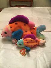 Ty Lips the Fish Beanie Baby (Errors) and Beanie Buddy Set e643cfe21cc5