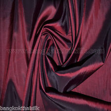 5 YDS BURGUNDY RED TAFFETA FAUX SILK FABRIC BRIDESMAID DRESS TABLECLOTH WEDDING