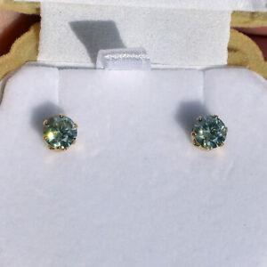 Gorgeous 1.10 Carat DEW Hawaii Estate Stud Earrings; 100% Genuine Moissanites!