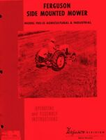 Massey Ferguson FEO-35 Side Mounted Mower Operators Manual