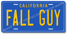 Fall Guy Colt Seavers GMC Pickup Truck Prop Replica License Plate Tag Gift Dad