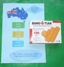 "First Aid Band Aids Assorted Sizes 3"", 2/14"", 11/2""&7/8""Bandages Box of 100"