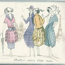 Vintage 1920s Ladies Paris Fashions - ONLY $9 - Wallpapers Border A370