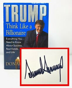 Donald Trump - Think Like a Billionaire - SIGNED 1st 1st - President USA - NR