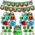 Minecraft Joyeux anniversaire ballon de bannière gâteau fête Décoration
