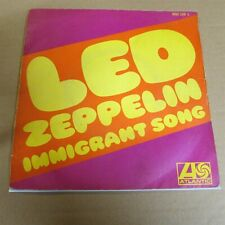 """LED ZEPPELIN Hey Hey What Can I Do / Immigrant Song 7"""" VINYL Import FRANCE"""