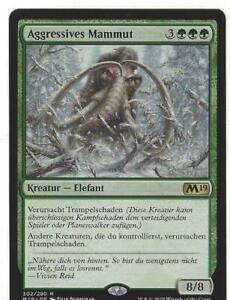 1x Aggressives Mammut - Elephant - M19- Rare- GREEN - Creatures get trample NEU