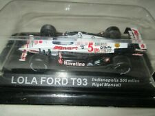 Miniature Lola Ford T 93 500 Miles Indianapolis Mansel IXO By Altaya 1 /43°