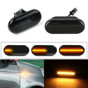 For Smart Fortwo W453 C453 Dynamic Flowing LED Side Marker Turn Signal Light 2pc
